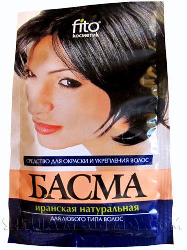 Басма - природный краситель для волос