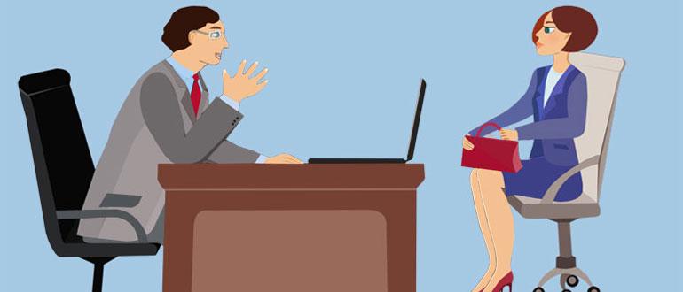 Девушка проходит собеседование на работу модельный бизнес пересвет