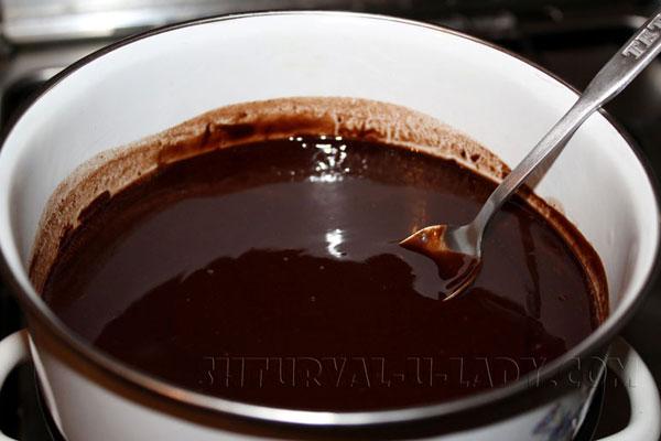 Шоколадный ганаш для торта Птичье молоко