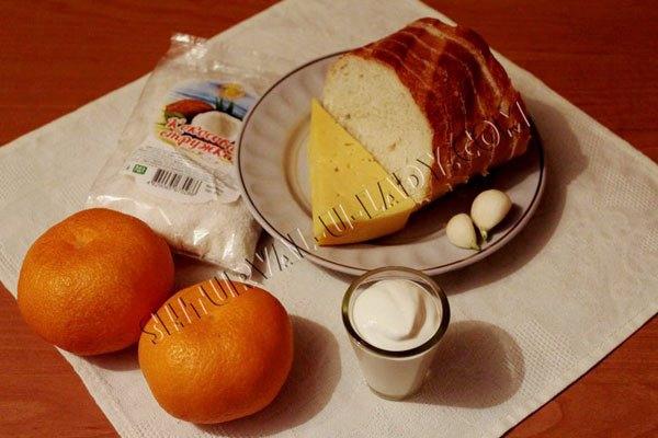 Продукты для закуски мандариновые шары