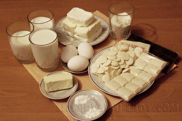 Набор продуктов для торта Птичье молоко домашнего