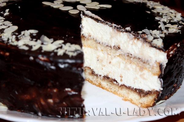 Десерт Птичье молоко: торт в разрезе