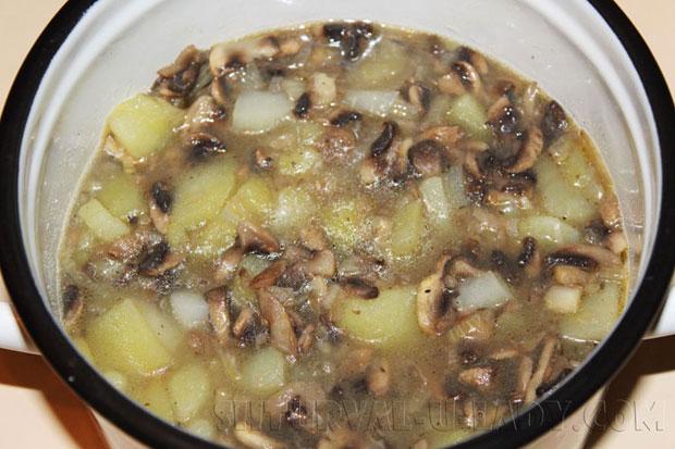 Суп из грибов, картошки