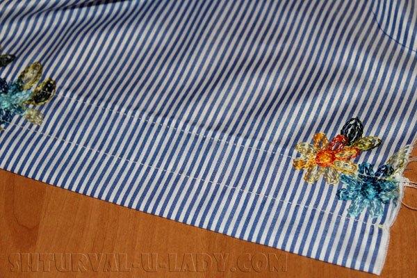 Кулиска для резинки платья-рубашки