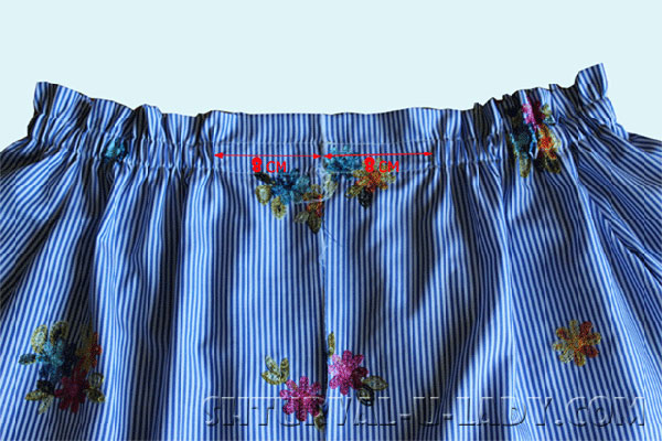 Кулиска с резинкой в платье-рубашке