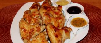Крылышки куриные, соусы