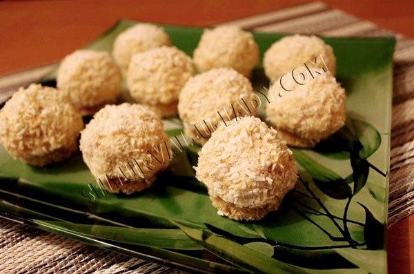 Закусочные шарики на основе мандаринов и сыра