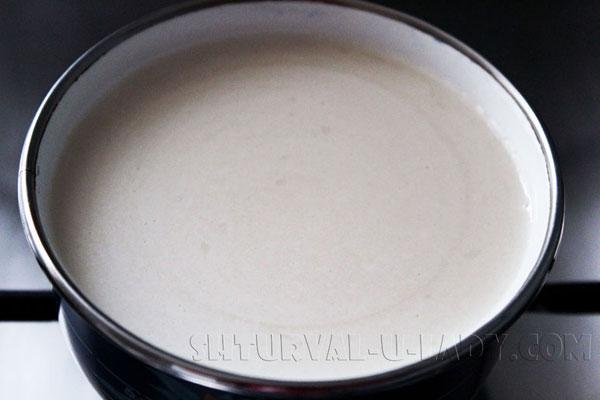 Молоко с желатином для суфле