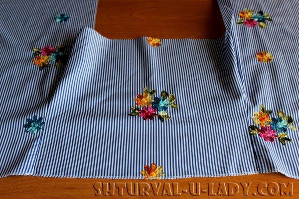 Обработка верха платья-рубашки