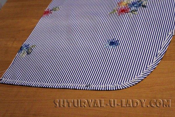 Обработка и подшивка низа платья-рубашки
