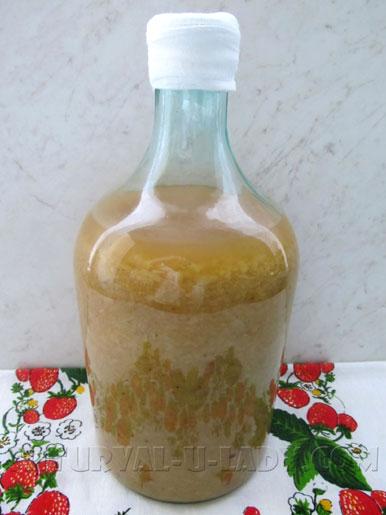 Бутыль с суслом из яблок