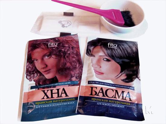 Красители для волос хна, басма