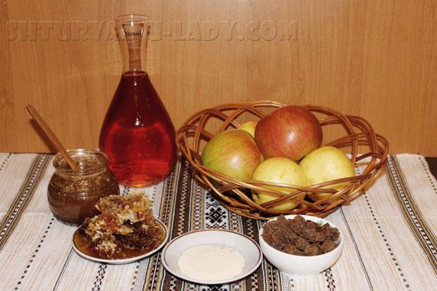 Ингредиенты для приготовления яблочного уксуса