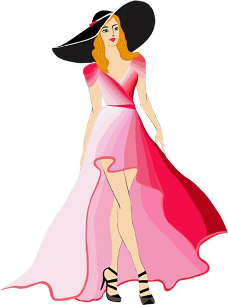 Элегантная девушка в шляпе
