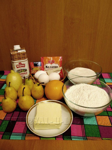 Набор продуктов для грушевого пирога