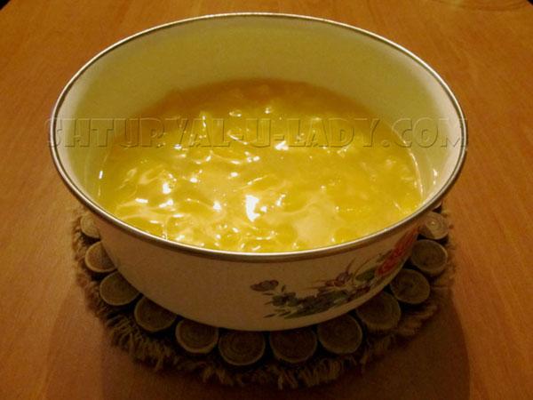Заливка из апельсина для покрытия чизкейка