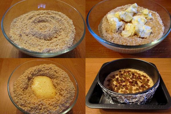 Поэтапное приготовление коржа для чизкейка