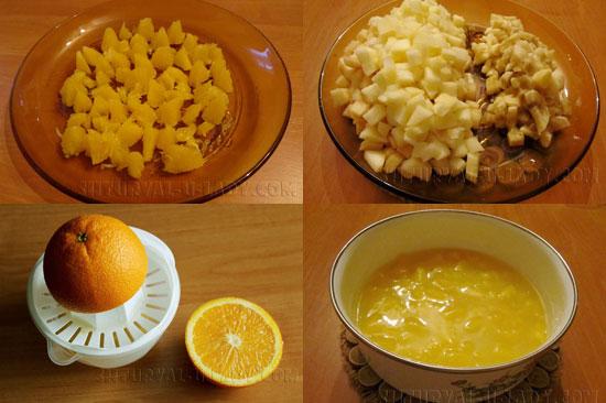 Пошагово готовим фруктовый наполнитель