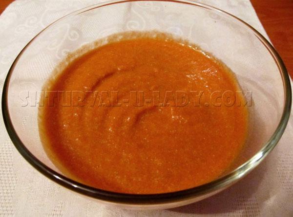 Тыквенно абрикосовая масса для верхнего слоя чизкейка