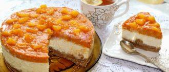 Яркий чизкейк с тыквой, апельсином