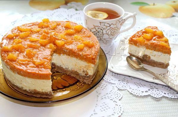 Тыквенный чизкейк с абрикосом и апельсином