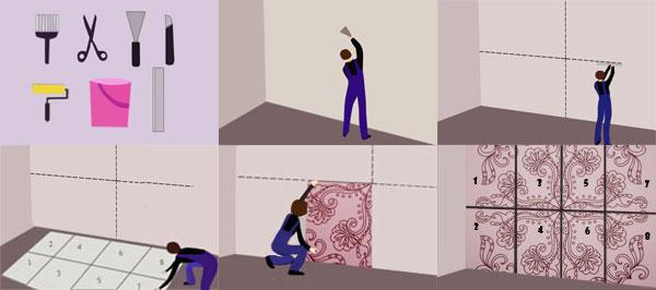Подготовка стены и поэтапное приклеивание фотообоев