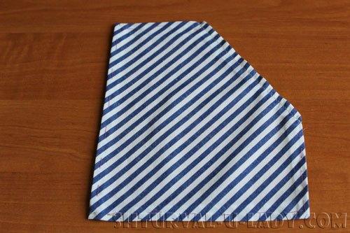 Подшивка края кармана