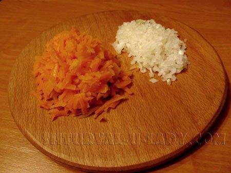 Нарезка лука, морковки