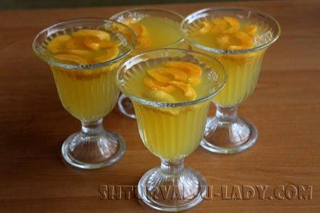 Цитрусово-абрикосовое желейный напиток, абрикосовые дольки
