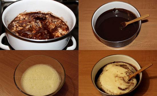 Поэтапное приготовление основы шоколадного брауни