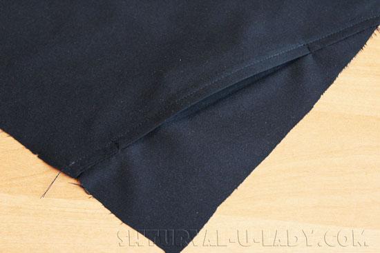 Отделочная строчка бокового кармана