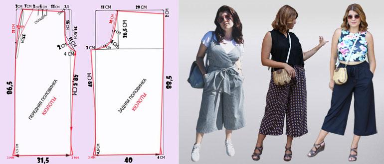 Образы с брюками-кюлотами