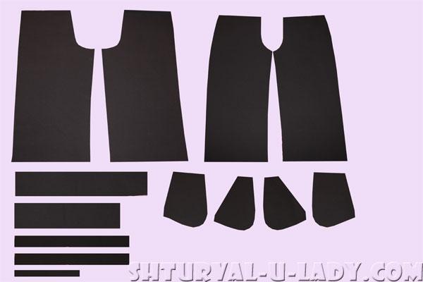 Детали кроя брюк-кюлотов