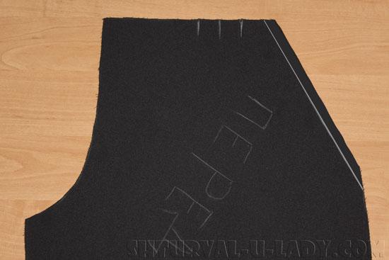 Пошив бокового кармана кюлотов