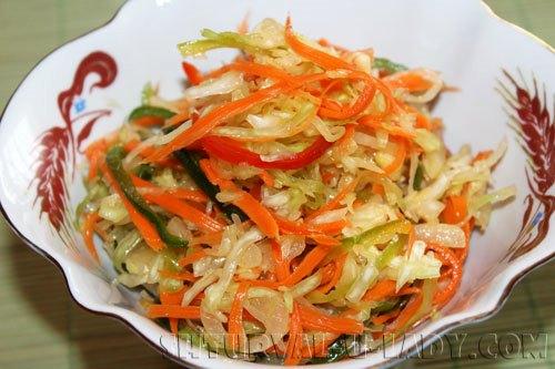 Капустный салат в маринаде