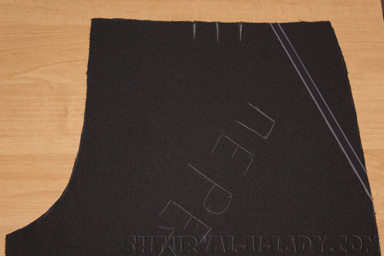 Разметка бокового кармана кюлотов