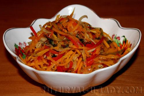 Овощной салат с тыквой в маринаде