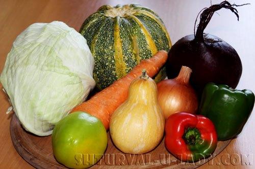 Набор овощей для салатов в маринаде