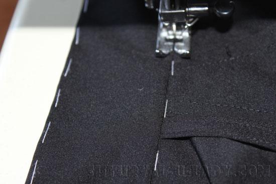 Отстрочка пояса брюк