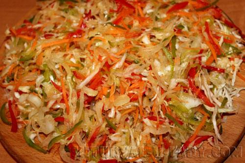 Нарезка капусты, овощей для салата