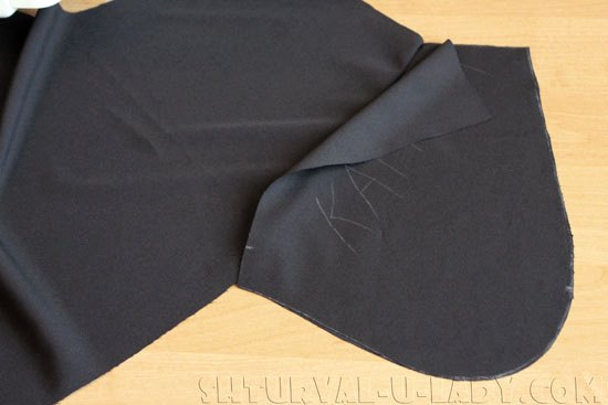 Пошив отрезного кармана брюк