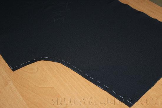 Стачивание задних частей брюк