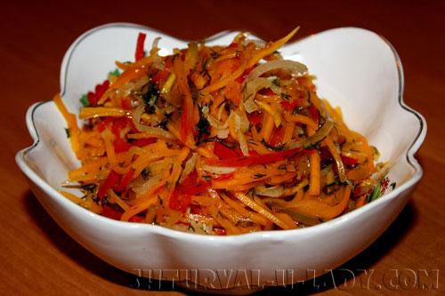 Тыквенный салат в маринаде