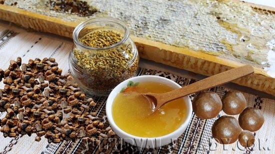 Пчелопродукты: мед, прополис, пыльца, соты, перга