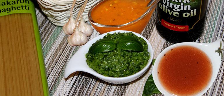 Домашние соусы: песто, томатный, заправка к салату