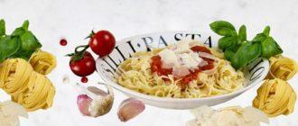 Карбонара паста итальянской кухни
