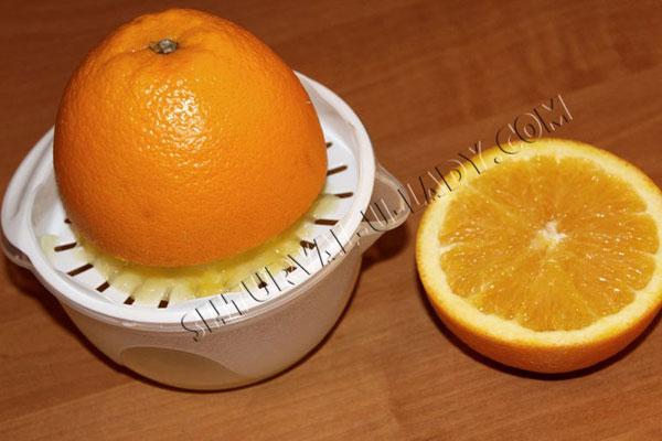 Выдавливание апельсинового сока