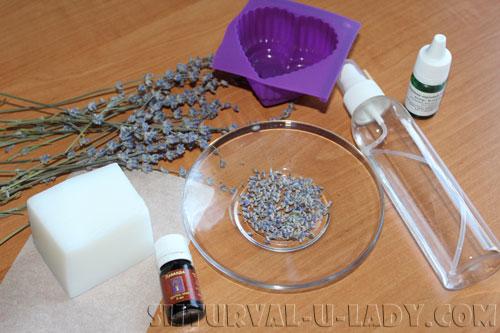 Набор материалов для лавандового мыла