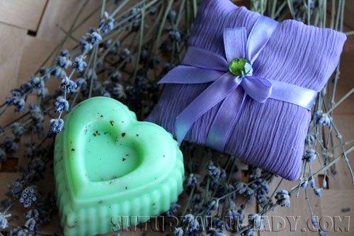 Лавандовое мыло, саше из лаванды