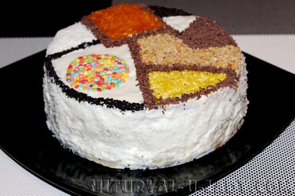 Декорированный торт Лабиринт